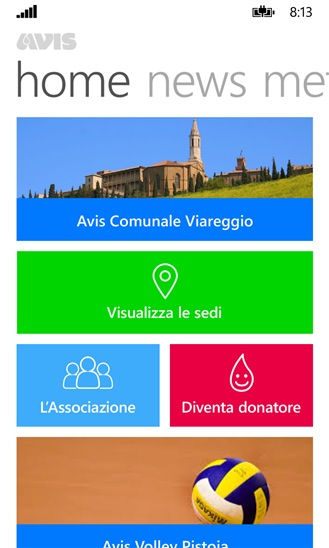 AVIS Toscana app Windows Phone Store meteo del sangue_4