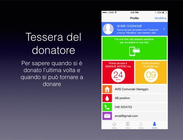 App AVIS Toscana 2.0 Andrea Corsi Elio Francesconi Dario Crisafulli Matteo Contrini 2