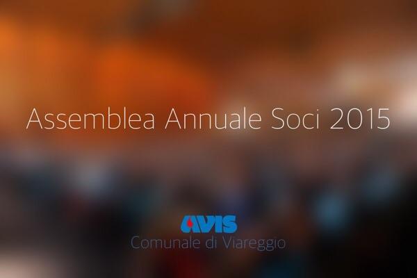 Assemblea Annuale Soci 2015 AVIS Viareggio
