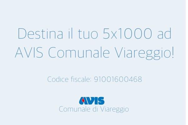 5x1000 AVIS Comunale di Viareggio5 per mille